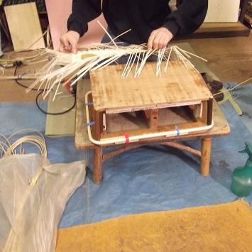 脱衣カゴの生産過程