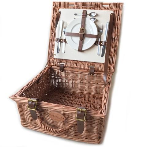 英国製ピクニックバスケットS プレート&カトラリーセット