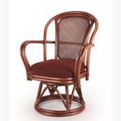 <即納>座面高さハイタイプの籐・ラタンの回転椅子IR-230LD