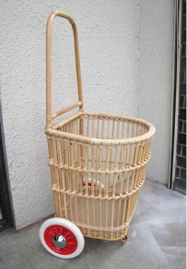 籐・ラタンのショッピングカート