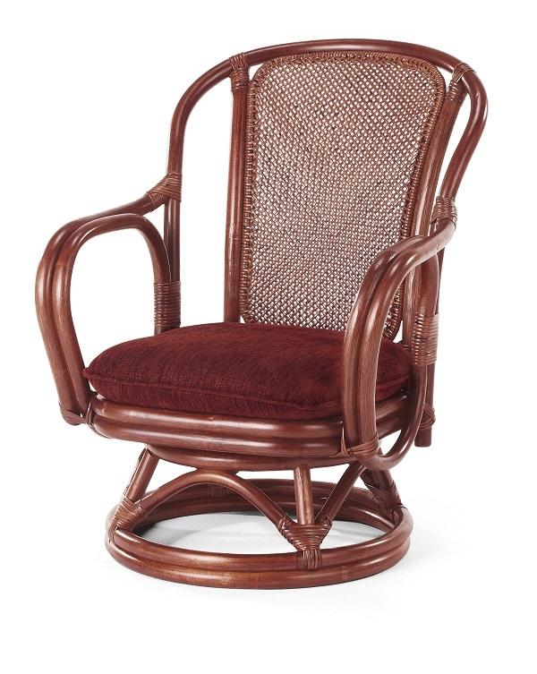 籐・ラタンの回転椅子